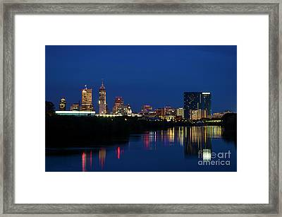 Framed Print featuring the photograph Reflections Of Indy - D009911 by Daniel Dempster