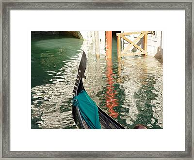 Reflections Of Italy 1. Framed Print by Nancy Bradley