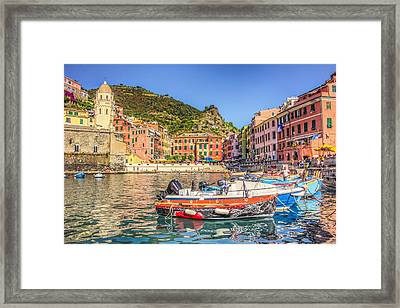 Reflections Of Italy Framed Print
