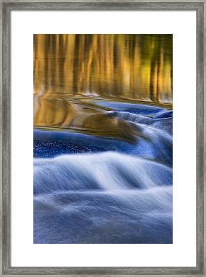Framed Print featuring the photograph Reflections  Of Linville River by Ken Barrett