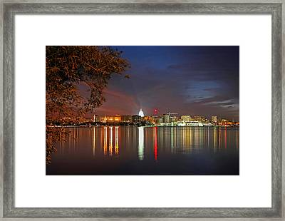 Reflections Of Madison Framed Print by Todd Klassy
