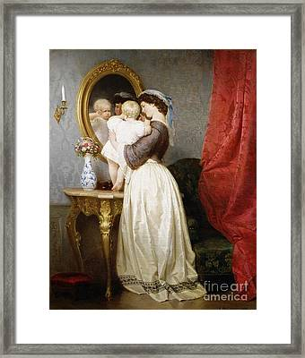 Reflections Of Maternal Love Framed Print by Robert Julius Beyschlag