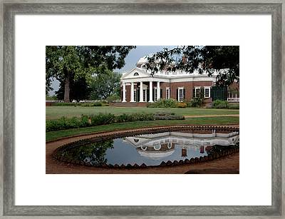 Reflections Of Monticello Framed Print