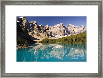 Framed Print featuring the photograph Reflections Of Moraine Lake by Andrew Serff