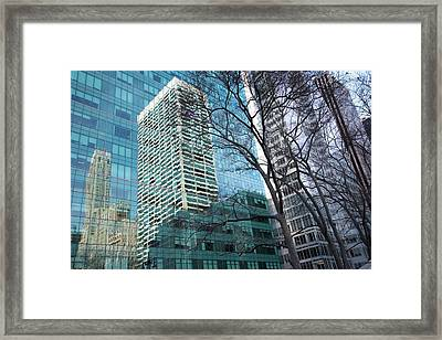 Reflections Of New York City Framed Print by Bob Cuthbert