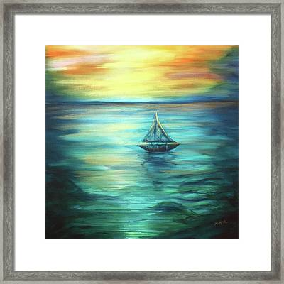 Reflections Of Peace Framed Print