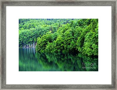 Reflections Of Plitvice, Plitvice Lakes National Park, Croatia Framed Print