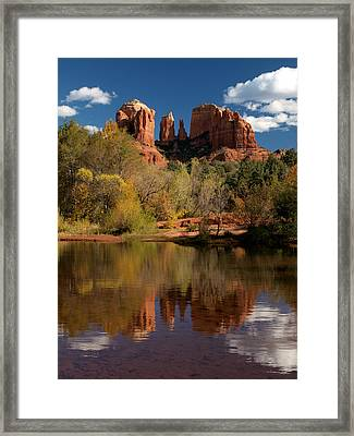 Reflections Of Sedona Framed Print by Joshua House