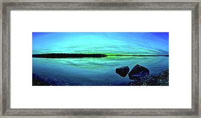 Reflections Of Serenity Framed Print by ABeautifulSky Photography