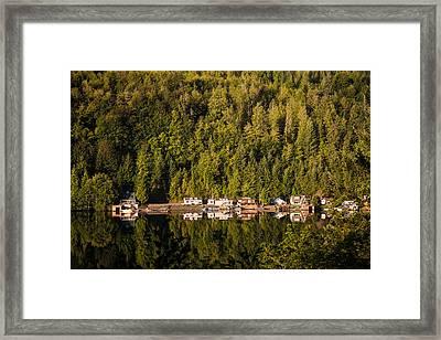Reflections Of Snug Harbor, Wa Framed Print by Ralf Kaiser