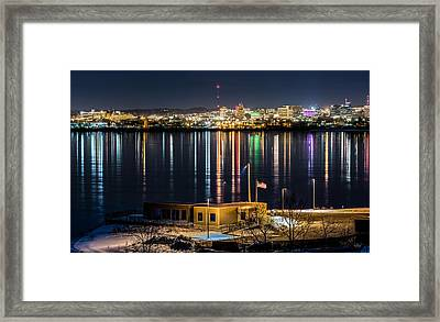Reflections Of Syracuse Framed Print