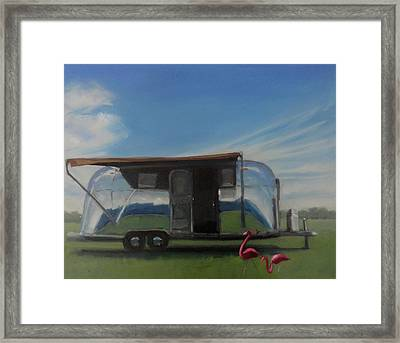 Reflections Of The Airstream Factory Framed Print