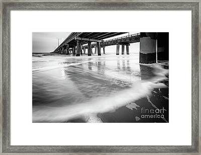 Reflections Of The Chesapeake Bay Bridge Tunnel Framed Print by Lisa McStamp