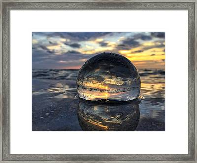 Reflections Of The Crystal Ball Framed Print