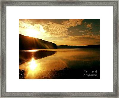 Reflections Of The Day Framed Print by Scott D Van Osdol