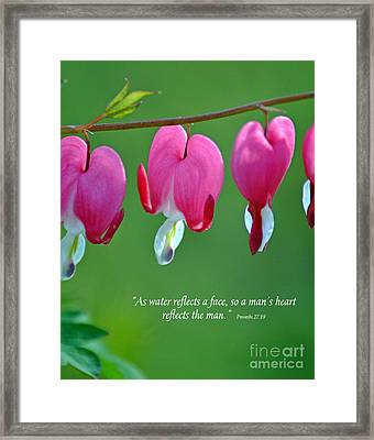 Reflections Of The Heart Framed Print by Diane E Berry