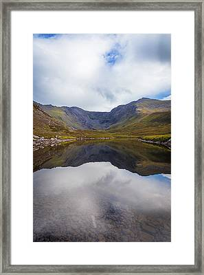 Framed Print featuring the photograph Reflections Of The Macgillycuddy's Reeks In Lough Eagher by Semmick Photo