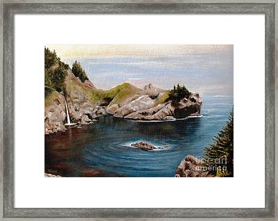 Framed Print featuring the painting Reflections Of The Past by Hazel Holland