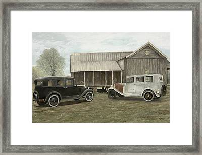 Reflections Of The Past Framed Print by Mary Ann King