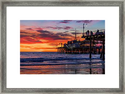 Reflections Of The Pier Framed Print