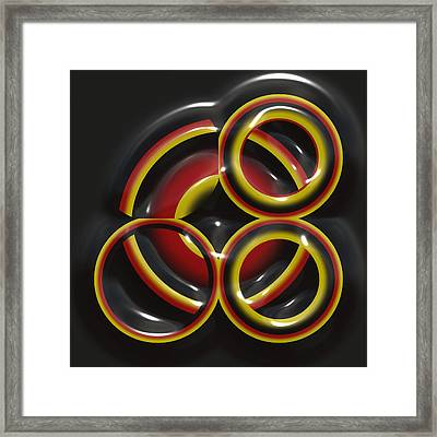 Reflections Of The Rings Framed Print