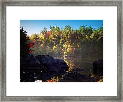 Reflections Of The Shannon River Framed Print by Karen Cook
