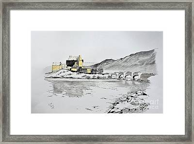 Reflections Of Time Eilean Donan Framed Print