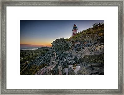 Reflections Of West Quoddy Head Framed Print