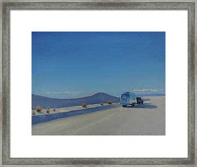 Reflections Of White Sands Framed Print