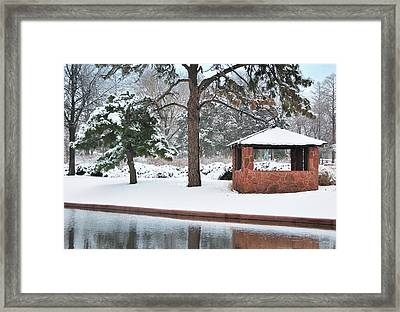 Reflections Of Winter Framed Print by Betty LaRue