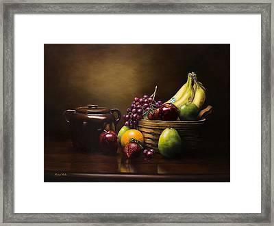 Reflections On A Bean Pot Framed Print by Michael Malta