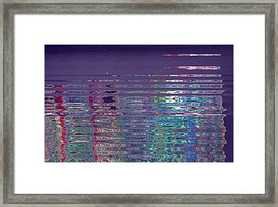 Reflections On A Rainy Morn Framed Print by Anne-Elizabeth Whiteway