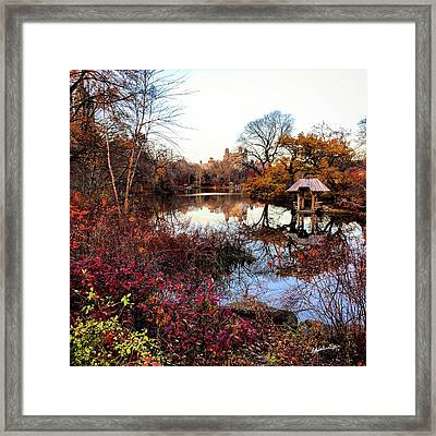 Reflections On A Winter Day - Central Park Framed Print