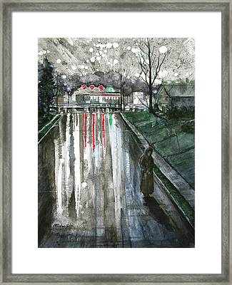 Reflections On Alone Framed Print by Patricia Allingham Carlson