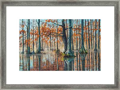 Reflections On Autumn Framed Print