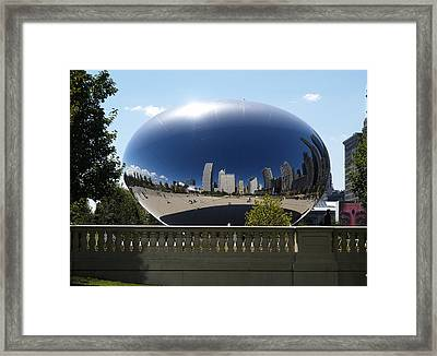Reflections On Chicago Framed Print