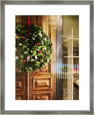 Reflections On Christmas Framed Print by Rosita Larsson