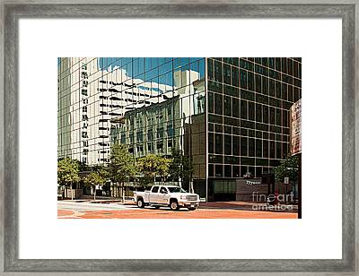 Reflections On Fort Worth Framed Print