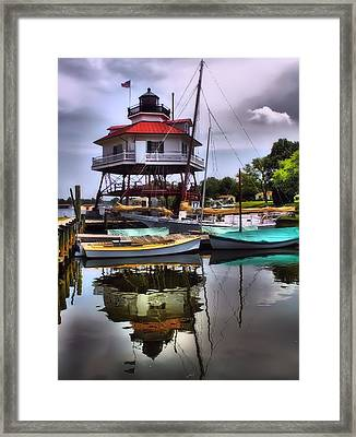Reflections On Golden Creek Framed Print