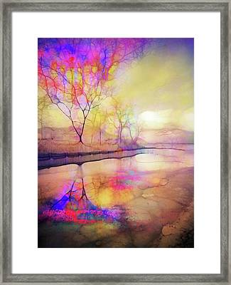 Framed Print featuring the digital art Reflections On Ice by Tara Turner