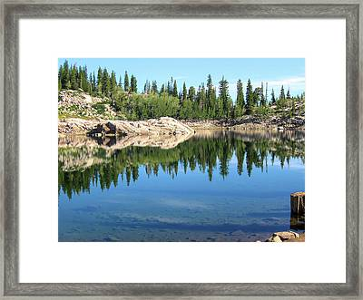 Reflections On Lake Mary Framed Print