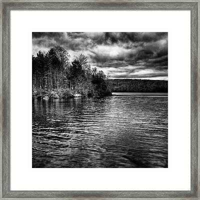Reflections On Limekiln Lake Framed Print by David Patterson