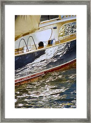 Reflections On Lorelei - Lake Geneva Wisconsin Framed Print by Bruce Thompson