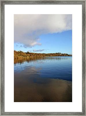 Reflections On Lough Fea. Framed Print