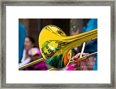 Reflections On Music II Framed Print by Al Bourassa