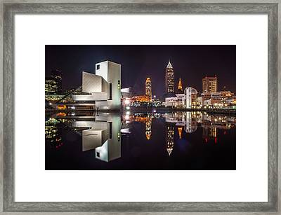 Reflections On The Harbor Framed Print