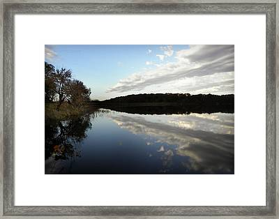 Framed Print featuring the photograph Reflections On The Lake by Chris Berry