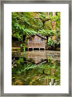 Reflections On The Pond Framed Print by Az Jackson