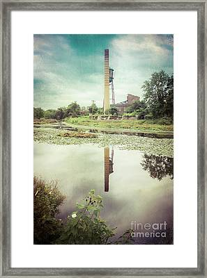 Reflections On The Pond - Milltown Framed Print by Colleen Kammerer