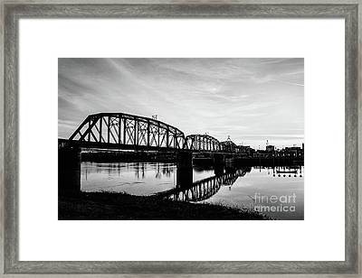 Reflections On The Red River Shreveport Framed Print